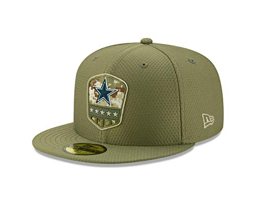 New Era Dallas Cowboys 59fifty Basecap On Field 2019 Salute to Service Olive - 7 1/4-58cm