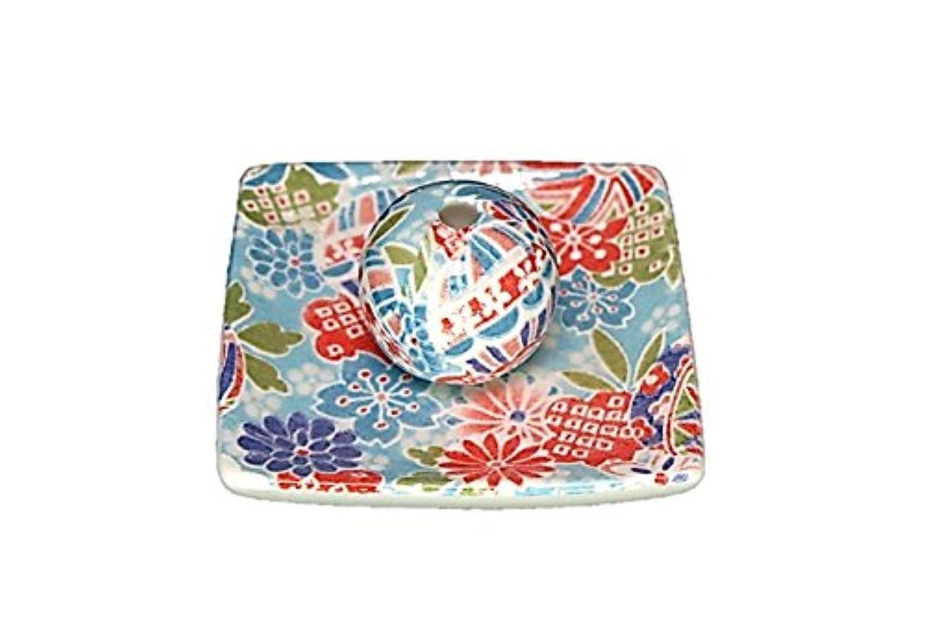 共同選択ふりをする予知京雅 青 小角皿 お香立て 陶器 製造 直売