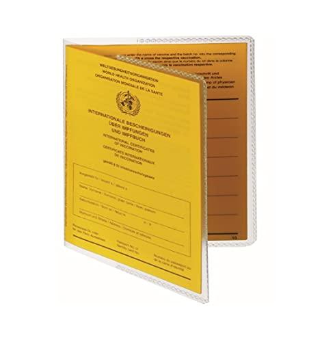 Schutzhülle passend für alle Internationalen Impfausweise 97mm x 135mm Umschlaghülle - Impfpass - Reisepass - Made in Germany - passt Nicht für 105x145mm - Impfbuch Hülle Etui Ausweis Erwachsener