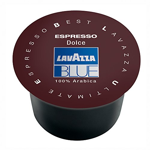 Lavazza BLUE Capsules, Espresso Ricco Coffee Blend, Dark Roast, 28.2-Ounce Boxes (Pack of 100)