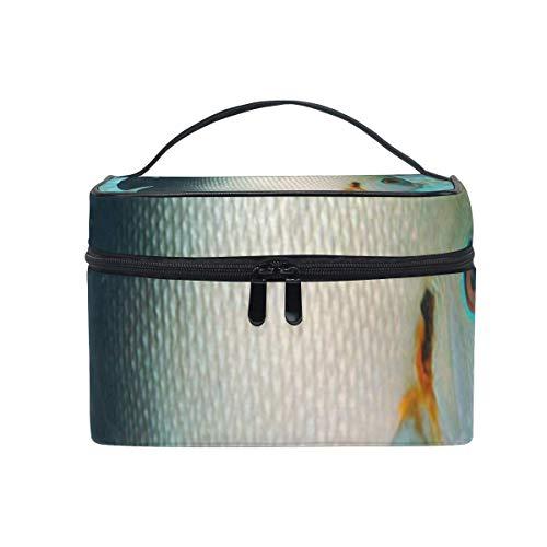 Pearlscale Angelfish Kosmetiktasche Tragbare große Kulturtasche für Frauen/Mädchen Reise Make-up Tasche
