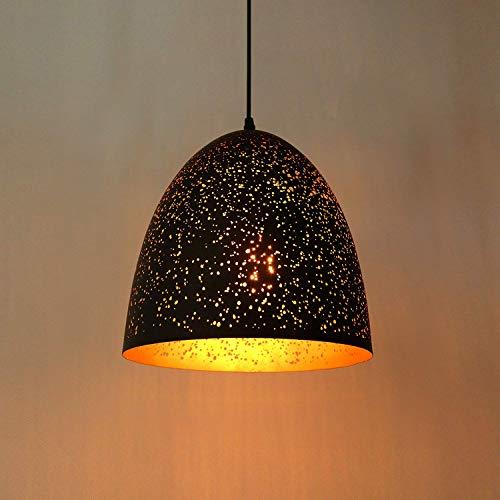 Lightess Industrie Modern Hängelampe Pendelleuchte Hängeleuchte Vintage Schwarz Stilvolle Deckenleuchte E27 Hohl Metall Lampenschirm Exotische Deckenlampe für Esstisch Esszimmer Wohnzimmer usw.