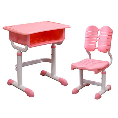 Table d'étude for enfants Ensemble table élévatrice et chaise Chaise de bureau d'école Bureau for enfants Convient for 7-18 (Color : Pink, Size : 65cm)