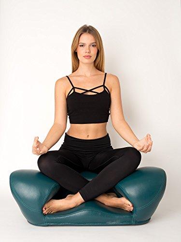 Alexia Meditation Seat Ergonomically Correct for The Human Physiology Zen Yoga Chair (Green, Genuine...