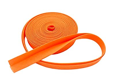"Double-fold Bias Tape 1/2"" Wide ~ Poly Cotton (5 Yards, Orange)"
