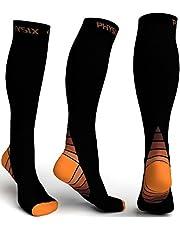 Physix Gear Sport Calcetines de compresión, los Mejores Calcetines compresión Mujer y Hombre para aliviar el Dolor de pies y Gemelos, Medias de compresión Hombre y Mujer Transpirables y Resistentes