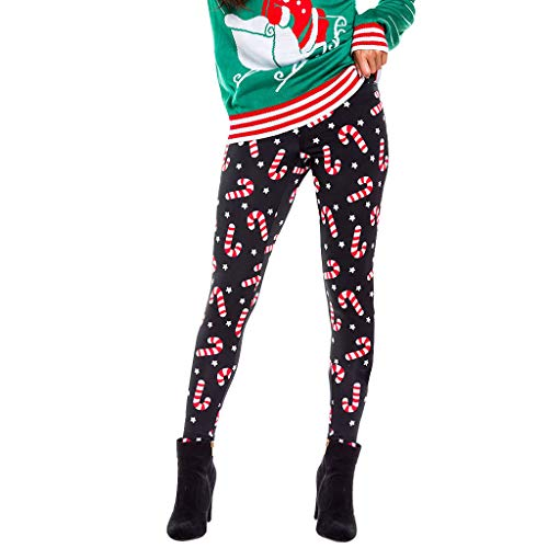 Leggins Damen Kolylong® Frauen Weihnachten Muster Hose Fitness Hohe Taille Push Up Stretch Skinny Thermoleggings Warme Christmas Druck Sport Yogahosen Jogginghose Strumpfhosen Traininghose