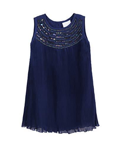 KRISP Vestido Niña Bebe Fiesta Boda Ceremonia Dama Honor Elegante Lentejuela Año Talla, Azul Marino (4198), 4-5 Años, 4198-NVY-4/5YR