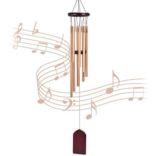 campane a vento,scacciapensieri da esterno,Campanelli eolici per decorazioni giardino,casa,albero,terrazzo decorazioni (dorato)