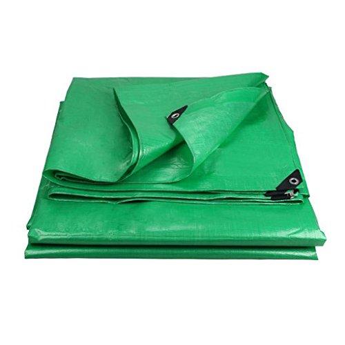 TYHZ Lona Impermeable Tarpaulina Verde Impermeable Tela Protector Solar toldo Ultraligero Tres Ruedas toldo toldo Tapa toldo Tela de toldo, Grosor 0.35mm, 180 g / m2 Lona Piscina (Size : 8X10)