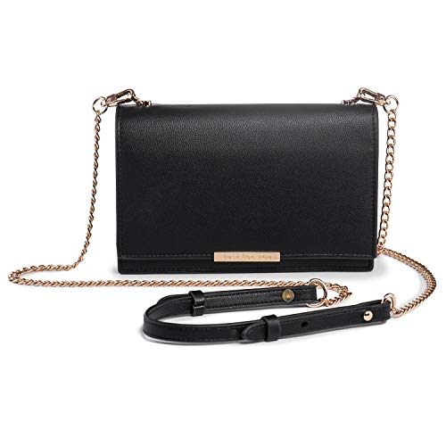 Crossbody Wallet Women PU Leather Cellphone Purse Chain Strap Nail Clipper