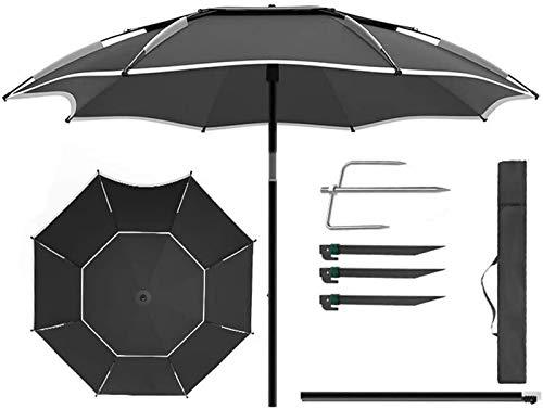 WQF Sombrilla de Patio, sombrilla de jardín Sombrilla de Pesca Sombrilla de Exterior 2 m (6,5 pies) / 2,2 m (7,2 pies) / 2,4 m (7,8 pies) 360 & deg;Sombrilla de Playa Ajustable Portátil /,Sin pies