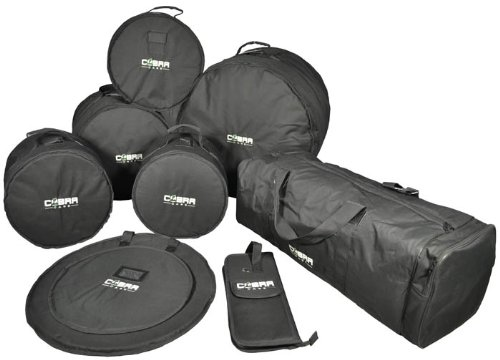 Cobra Padded 8 Piece Drum Set Bags- 2 YEAR Guarantee