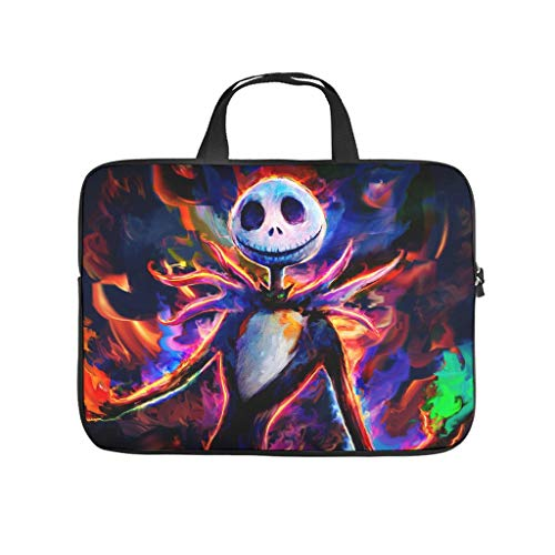 Personalized Laptop Sleeve Jack Nightmare Before Christmas Halloween Double-Sided Printed Laptop Sleeves Slim Polyester Laptop Computer Sleeve Computer Accessories White 10inch