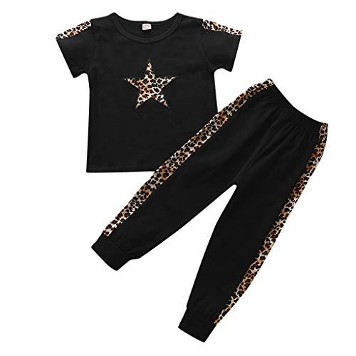 Babybekleidung,Baby Jungen Kleidung Set Pailletten T-Shirt Tops + Hosen Trainingsanzug Outfits Set Jogging Sweatshirt Streetwear Jogginganzug Babyanzug