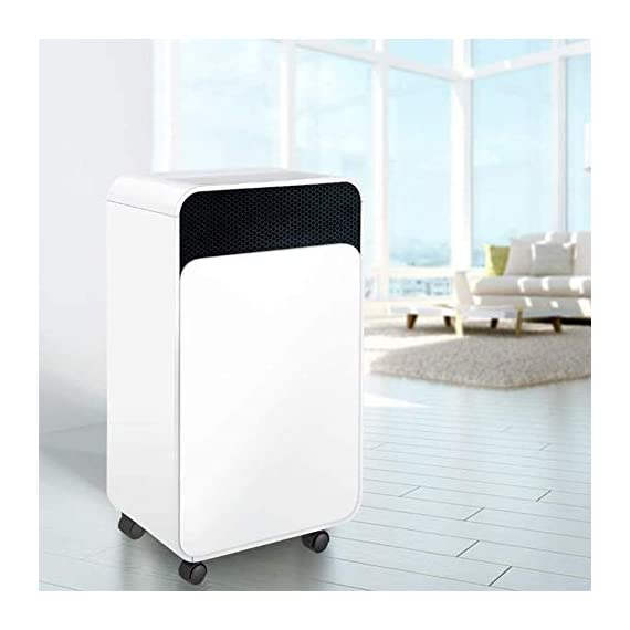 WQSFD 30Pint Dehumidifiers 4 Gallons/Day Intelligent Humidity Control for Space Up to 1000 Sq Ft for Home Basements… 3 30 Pints Dehumidifier: With removal capacity of up to 30 pints of water per day (under 90% RH @ 95°F condition), this energy-efficient dehumidifier is ideal to dehumidify damp rooms up to 1056 sq ft, like attics, basements, bathrooms, laundry room, garages, and even campers or RV. Easy-to-use Dehumidifier: With a built-in humidistat, this smart dehumidifier will AUTO-STOP when set humidity level has been met and AUTO-RESTART when room humidity goes up again. The switchable fan speed add flexibility and the programmable 24H ON/OFF improves energy savings. User-friendly Drainage Options: This small dehumidifier will auto shut off when the 4-Pint (0.5 Gal.) water reservoir is full and audibly alert you to empty it. Too busy to empty it manually? This dehumidifier with drain hose (6.56-ft) allows you to simply attach the hose to achieve self-draining by gravity.