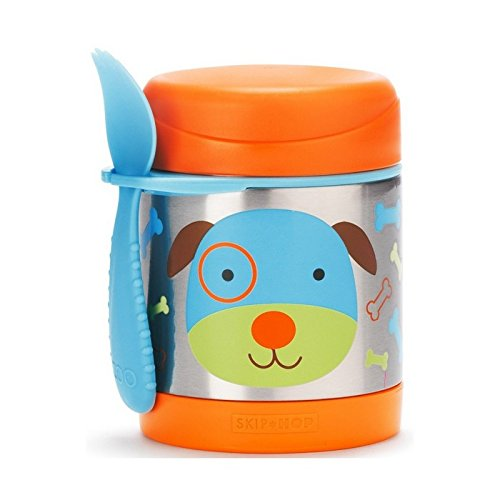 Skip Hop Insulated Food Jar: Stainless Steel Baby Food Container, Dog