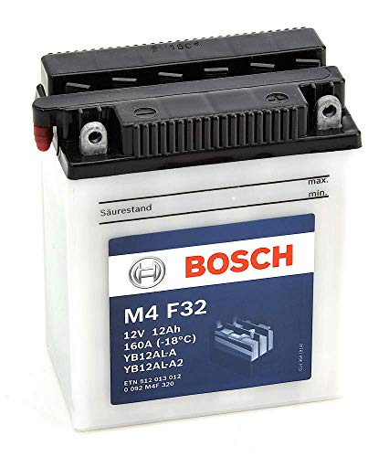 Bosch M4F32 Batería motocicleta YB12AL-A /  YB12AL-A2 - 12V Plomo 12A/h-120A