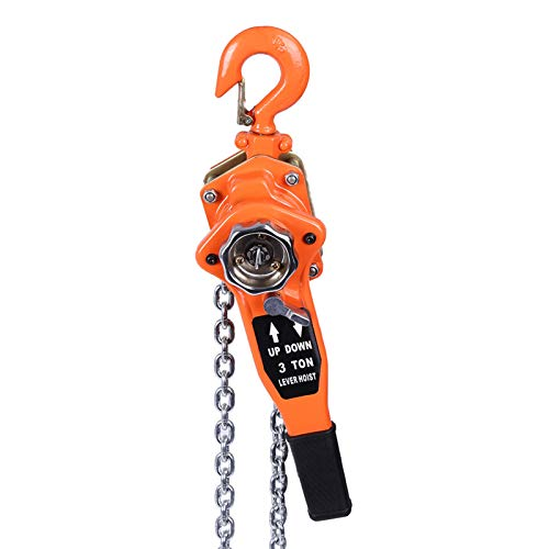Polipasto manual de palanca, trinquete de elevación de bloque de cadena, 3T / 3000kg 3...