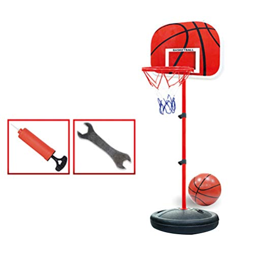 BESPORTBLE Basketballkorb Und Bälle Spielset für Kinder Schießspiel Tragbare Höhenverstellbare Innen Outdoor Mini Basketballspiel Spielzeug mit Basketball