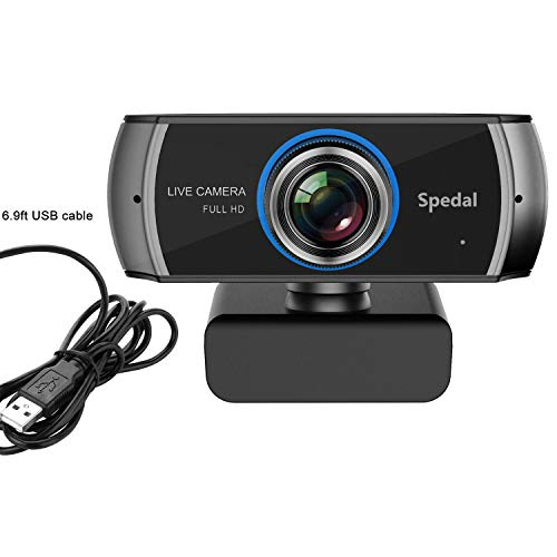 Full HD Webcam 1080P, Streaming USB Web Camera with Built-in Microphone, Computer Video Webcam for Gaming Conferencing Skype Xbox PC Laptops Mac and Desktop Spedal 920