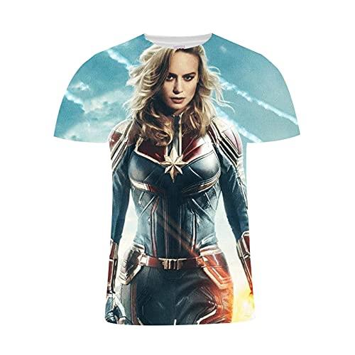 Camiseta de diseño de Super Héroes para hombre, impresión 3D, para adultos, adolescentes y niños, 4, 5XL