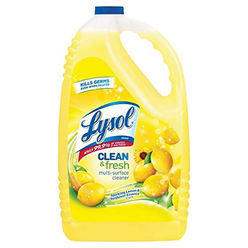 Lysol Disinfectant Clean & Fresh Multi Surface Cleaner, Sparkling Lemon & Sunflower Essence, 4.26 L