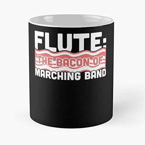 Flute Chair Camp First Woodwinds Marching Clever Funny Band I FSGdesign- Best Mug holds hand 11 oz made from White marble ceramic