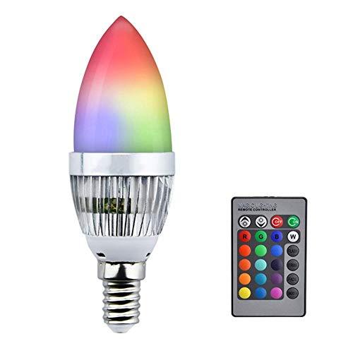 KANKOO GlüHbirne Farbwechsel Hue GlüHbirne E14 Glühbirne Glühbirnen für Haus Nachtglühbirnen Farbwechsel Glühbirnenschraube Schraube für farbige Glühbirnen e14