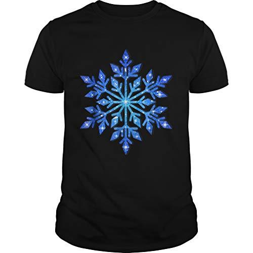 Beautiful Snowflake Winter Christmas Frozen Snow Gift Shirt - Front Print T-Shirt for Men and Women