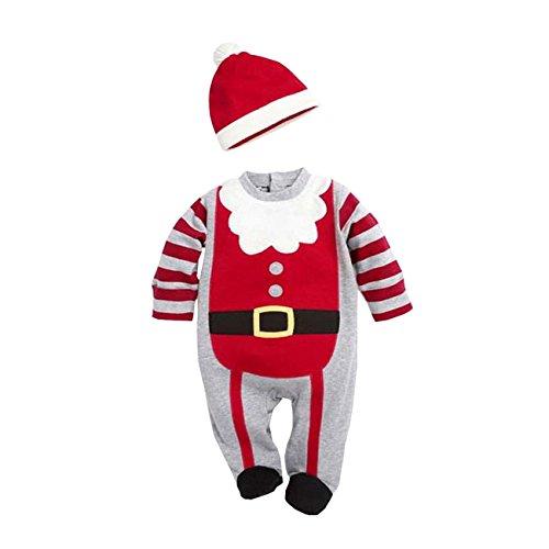 AHATECH Bébé Toddler Filles Enfants Père Noël Costume vêtement de Nuit Pyjamas Tenue