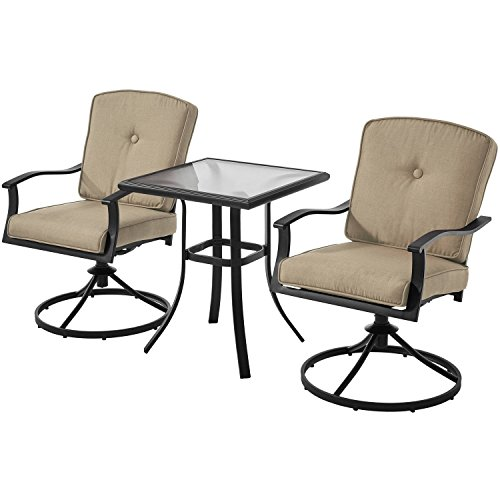 Mainstays Belden Park 3-Piece Bistro Set (Tan)