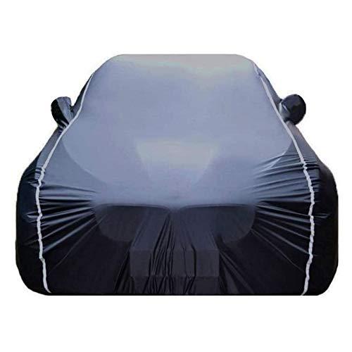 ZYuan Funda para Coche Compatible con BMW 3 Series Funda para Exterior para Coche Funda para vehículo Transpirable Resistente Aranazos con Tiras Rflectante (Color : Black, Size : 3 Series GT)