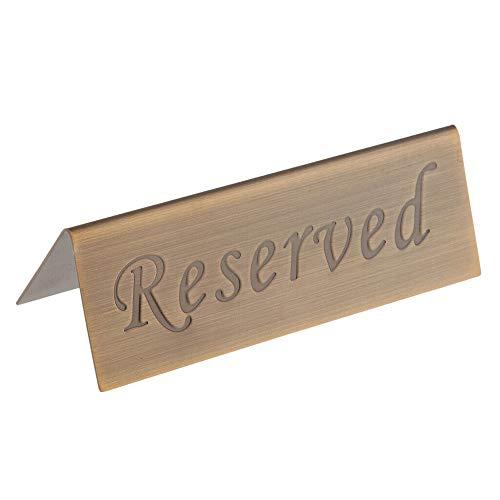 MEI Tisch reserviertes Schild Empfang Tisch Sitzschilder Doppelseitiges reserviertes Schild