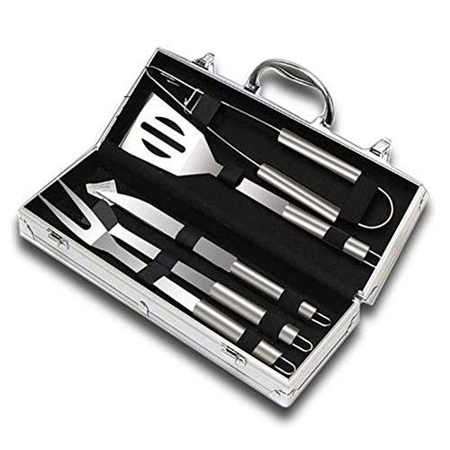 RANRANHOME 5 Accessoires de BBQ Grill Set, Acier Inoxydable Robuste pour Hommes Papa Femmes Parfait Cadeau Barbecue