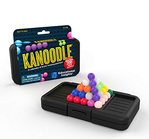 Educational Insights Kanoodle 3-D Brain Teaser Puzzle Game for Kids, Teens & Adults, Featuring 200 Challenges, Ages 7+