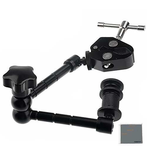 Fomito 11 inch Inch Articulating Magic Arm + Super Clamp