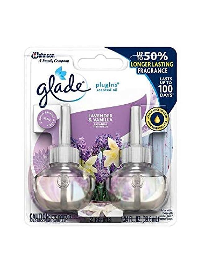 一貫した活性化盟主【glade/グレード】 プラグインオイル 詰替え用リフィル(2個入り) ラベンダー&バニラ Glade Plugins Scented Oil Lavender & Vanilla 2 refills 1.34oz(39.6ml) [並行輸入品]