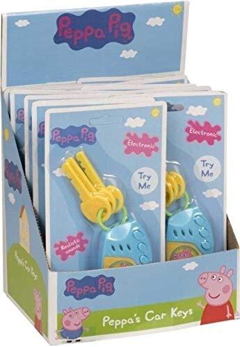 HTI 1384026 Peppa Pig - Juego electrónico de Llaves de Coche para niños y niñas