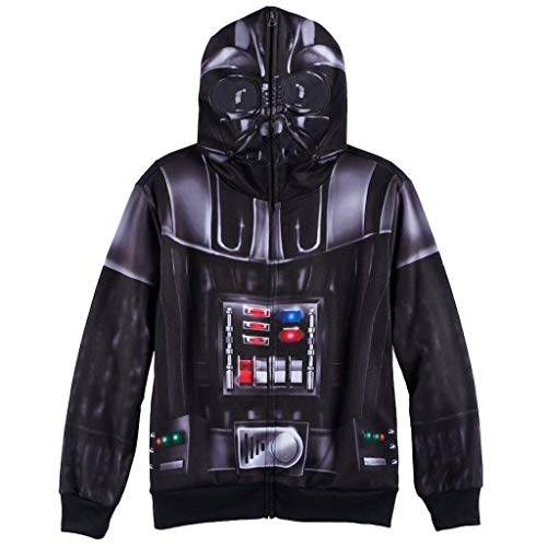 Star Wars Darth Vader Disfraz Zip Up Capucha Sudorhirt | XL