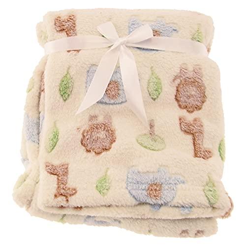 Bieco Babydecke Zoo Tiere | Baby Decke | Kuscheldecke Baby | Baby Blanket | Tagesdecke Kinder Jungen | Buggy Decke | Baby Kuscheldecke | Einschlagdecke | Decke Baby| Flauschige Fleecedecke | Wohndecke