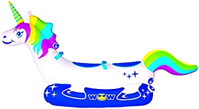 WOW Watersports Unicorn 2-Person Towable Water Tube, 20-1020, White