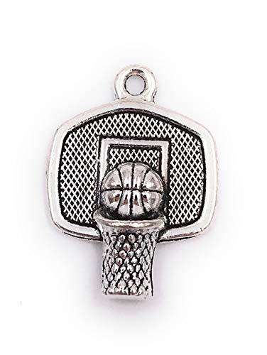 Onwomania Charm Basketball Korb Dunking Anhänger Kette Armband Schmuckzubehör Bastelbedarf