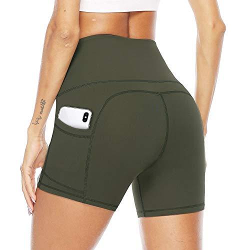 JOYSPELS Shorts de Sport Femme, Yoga Pantalons Shorts...