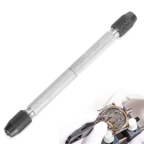 WinmetEuro Pinza de Tornillo para Reloj, Peso Ligero, fácil de operar, Broca, Taladro Manual, tamaño Compacto para reparación de Relojes