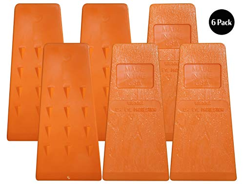 Cold Creek Loggers 5.5 Inch Barbed Felling Wedge Chain Saw Logging Supplies Set of 6