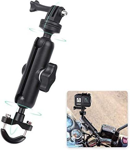 RUIGPRO 360 Motorcycle Bike Camera Holder Handlebar Mount Bracket 1 4 Metal Stand for GoPro product image