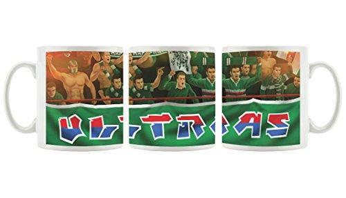 Ultras-Art RapidFans als Bedruckte Kaffeetasse/Teetasse aus Keramik, 300ml, weiß