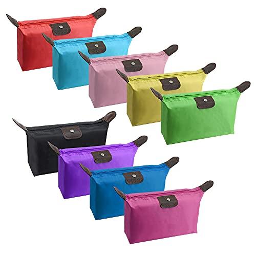YAODHAOD Make-up Clutch Bag für Frauen Travel Cosmetic Aufbewahrungstasche Wasserdichter Stoff Kleine Make-up-Tasche Cosmetic Toiletry Organizer Bag (9 Farben)