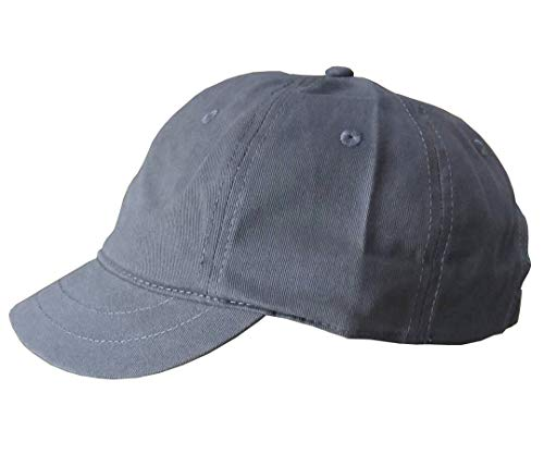 Crazy Cart Adjustable Men and Women Sun Hat Breathable Short Brim Baseball Cap Grey